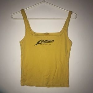 Brandy Melville Los Angeles Yellow Tank Top